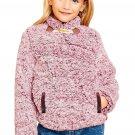 Red Long Sleeve Fleece Pullover Sweater for Girls