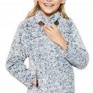 Blue Long Sleeve Fleece Pullover Sweater for Girls