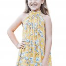 Yellow Little Girls Floral A-line Blouse