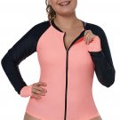 Coral Black Thumbhole Long Sleeve Rashguard