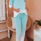 Green Utopia Cotton Blend Tie Dye Hoodie Joggers Loungewear