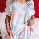 Orange Twist Tie Dye Pajamas Set