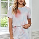 Tie Dye Print Pajama Short Set