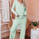 Green Cotton Modal Shirt and Pants Loungewear