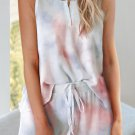 Multicolor Tie Dye Sleeveless Shorts Lounge Set
