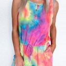 Rainbow Tie Dye Romper with Pockets