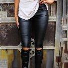 Black Skinny Faux Leather Leggings