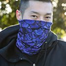 Blue Fishscale Seamless Face Bandana Neck Gaiter