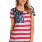 American Flag Stars Summer T Shirt