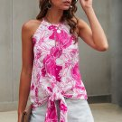 Rose Boxwood Floral Tie Tank
