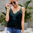 Green Whimsical Velvet Cami Tank
