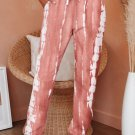 Pink Pocketed Tie Dye Knit Joggers