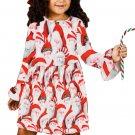 Santa Claus Allover Christmas Little Girl Dress