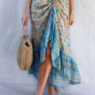 Blue Floral Motif Talking Pretty Maxi Skirt