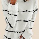 Tie-dye Stripes White Sweatshirt