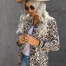Jackets and Coats  Leopard Print Zip Stand Collar Short Jacket