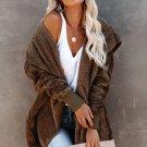 Classic Soft Fleece Hooded Open Front Coat