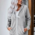 Gray Zip-up Hoodie Jacket