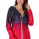 Cheap Fashion Black Red Ombre Zipper Lapel Suit Blazer