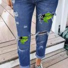 Boyfriend Patched Distressed Jeans