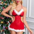 3pcs Furry Christmas Goddess Costume Set