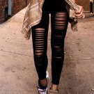 Black Hollow Out Activewear Leggings