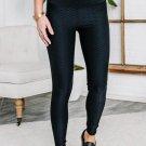 Black Just Making Moves Textured Leggings