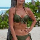 Green Push Up Bikini with Ties