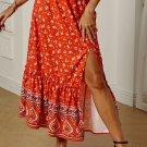 Multicolor Floral Print Maxi Skirt