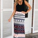 Boho Geometry Printed Maxi Skirt