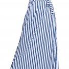 Light Blue Striped Maxi Skirt