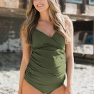 Green Pregnant Push-Up Padded Bra Beach Bikini Set
