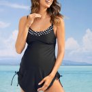 Black Tank Top Maternity Swimsuit with Panty