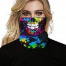Multicolor Skull Print Face Bandana Neck Gaiter