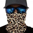 Leopard Print Face Mask and Neck Warmer with Sun UV Protection