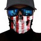Striped Skull Sun UV protection Face Mask
