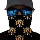 Tiger Print Face Mask and Neck Warmer with Sun UV Protection