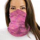 Heathered Multicolor Outdoor Workout Neck Gaiter Bandanas Face Mask