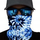 BlueTie Dye Print Face Mask and Neck Warmer with Sun UV Protection