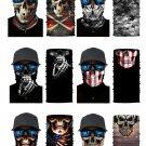 6/bag Skull Print Sun UV protection Face Mask