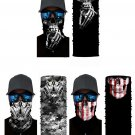 3/bag Skull Print Sun UV protection Face Mask