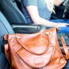 Removable/Adjustable Shoulder Strap Double Carry Handles Faux Leather Handbag