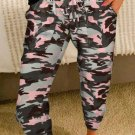 Pink Camouflage Casual Sports Pants