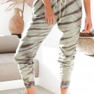 Green Pocketed Tie dye Print Joggers