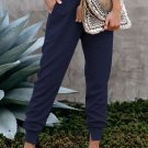 Blue Pocketed Cotton Joggers