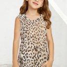 Leopard Ruffled Little Girl Tank
