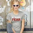 Boycott Fear Women's Basic Crew, Heather Gray (S-XL)