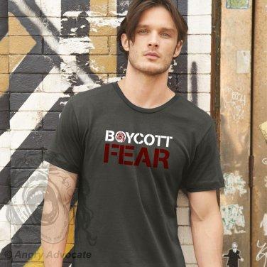 Boycott Fear Men's/Unisex Basic Crew, Asphalt Gray (S-XL)