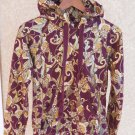 Baby Phat Hoodie M Zipper Front Burgundy Gold Women New
