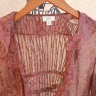 J Jill XS Extra Small Sheer Ruffled Beach Blouse Women New